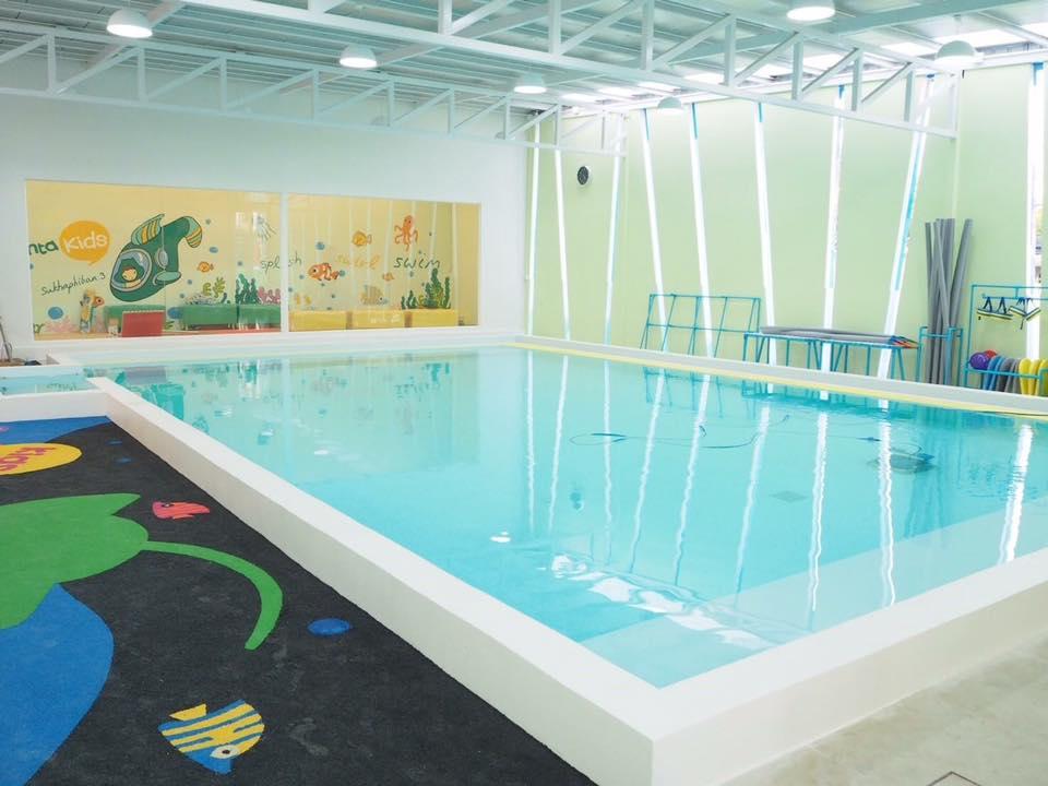 รีวิว สระว่ายน้ำเด็ก Manta Kids สุขาภิบาล 3